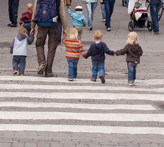 Kids at Zebra Crossing